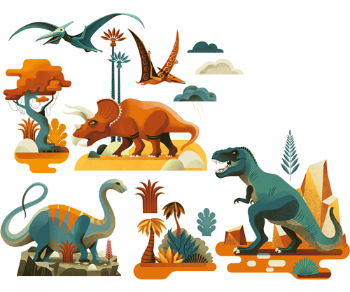Image Stickers fenêtre / Dinosaures